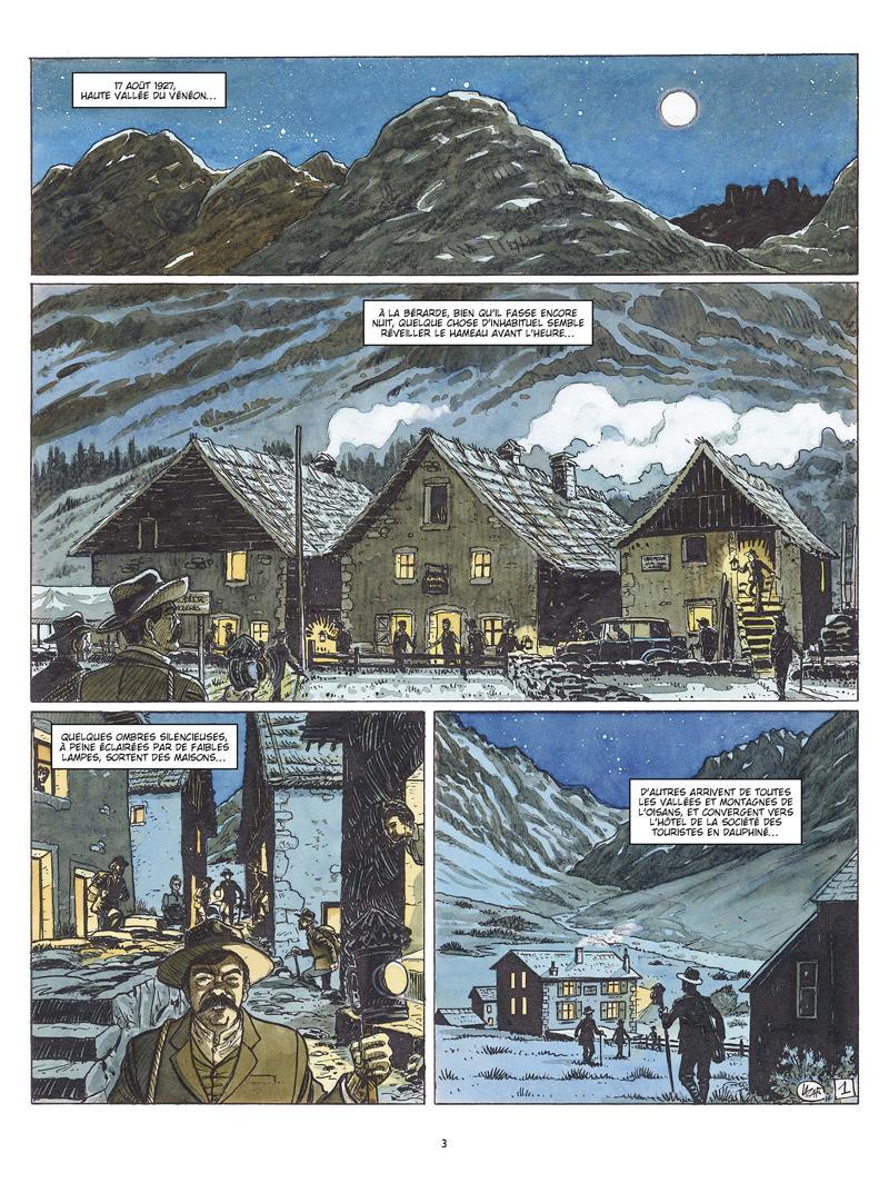 Extrait n°1 de la bd Les amants de l'Oisans par Fabien Lacaf