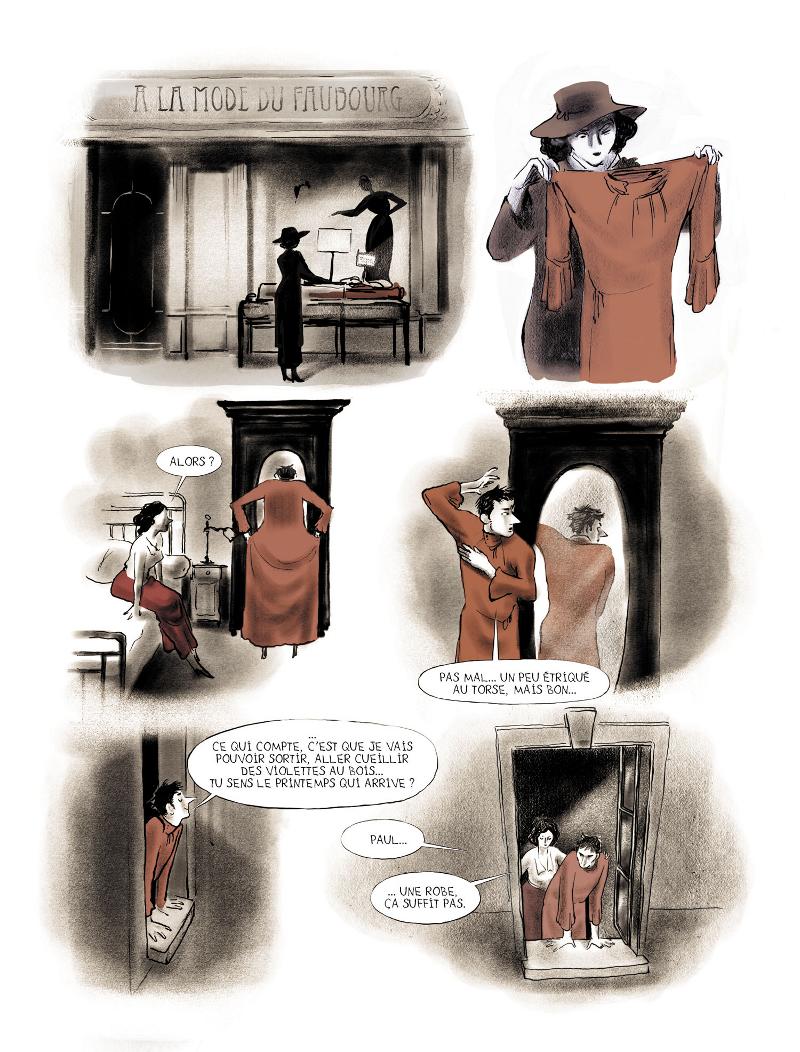 Extrait n°2 de la bd Mauvais genre par Chloé Cruchaudet