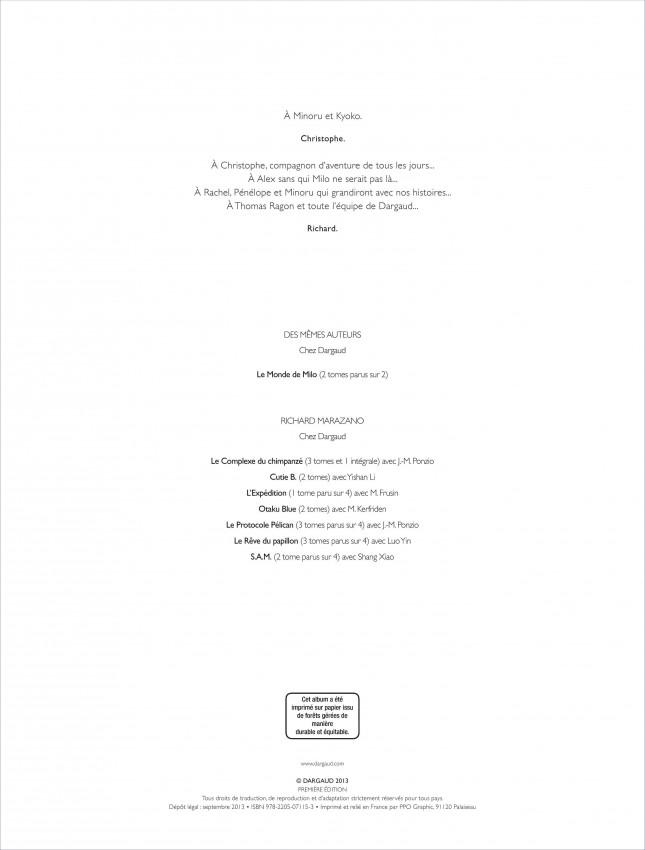 Extrait n°2 de la bd tome 2 par Richard Marazano
