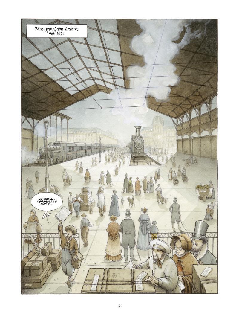 Extrait n°1 de la bd Les Damnés de Paris par Le Galli, Michaël