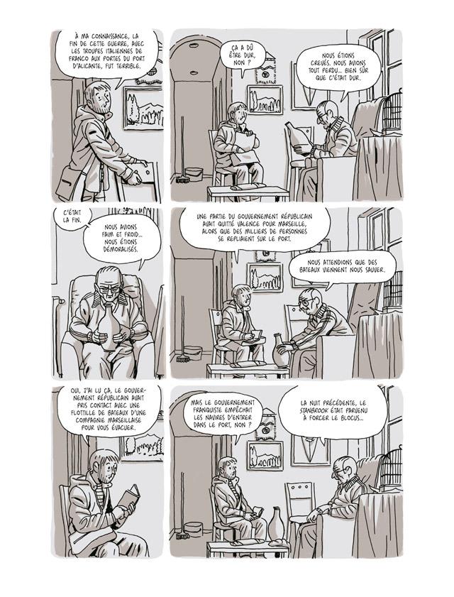 Extrait n°1 de la bd La Nueve par Paco Roca