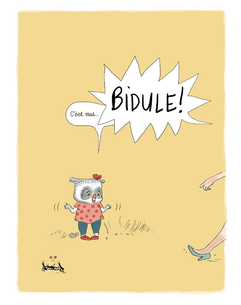 Extrait n°4 de la bd Rien n'arrête Bidule Chouette ! par Gwendoline Raisson