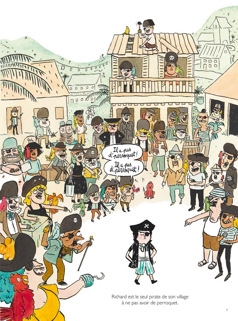 Extrait n°1 de la bd Les Trois Pires Histoires de pirates par Thomas Bretonneau