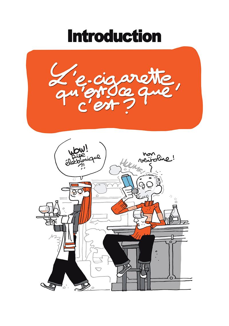 Extrait n°1 de la bd Ma cigarette électronique par Monsieur B.