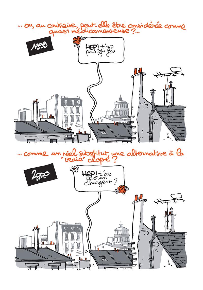 Extrait n°3 de la bd Ma cigarette électronique par Monsieur B.