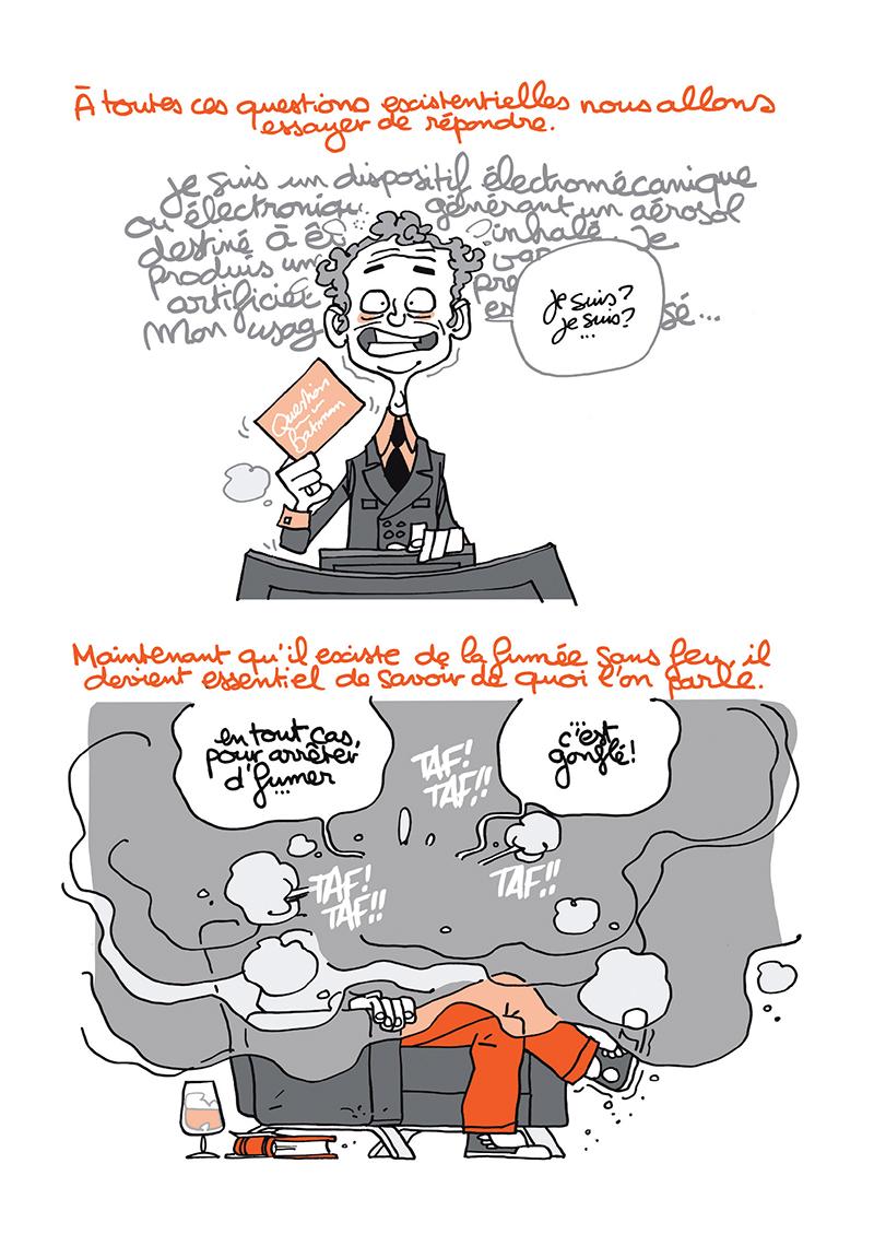 Extrait n°5 de la bd Ma cigarette électronique par Monsieur B.