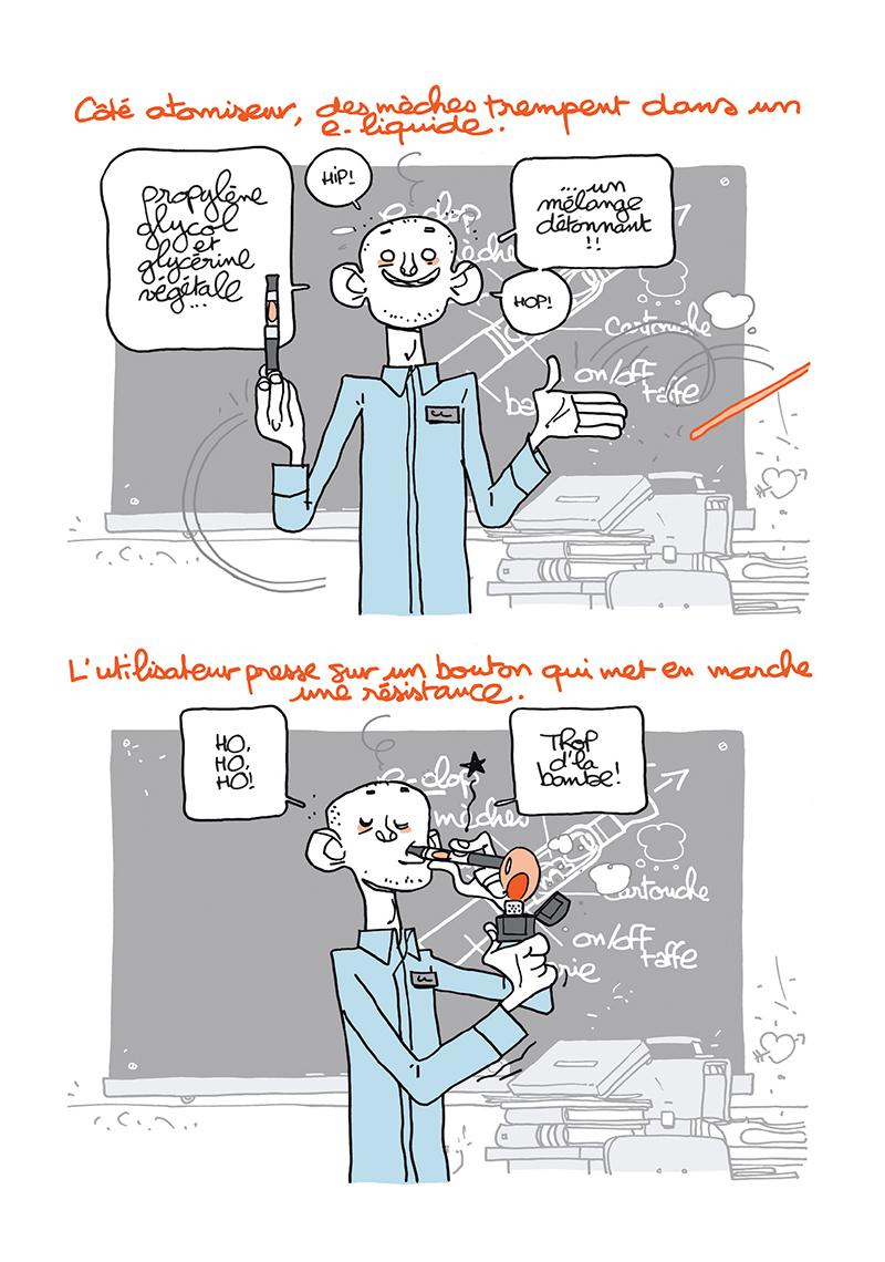 Extrait n°11 de la bd Ma cigarette électronique par Monsieur B.