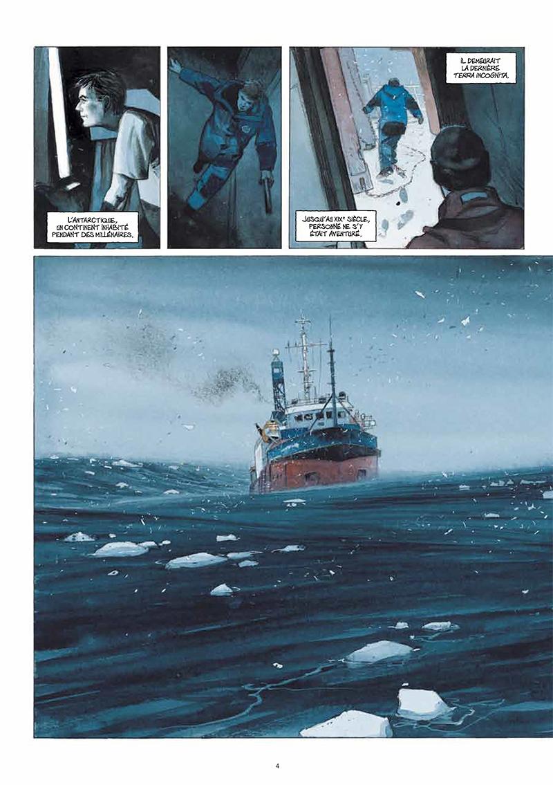 Extrait n°2 de la bd La Lune est blanche par Emmanuel Lepage