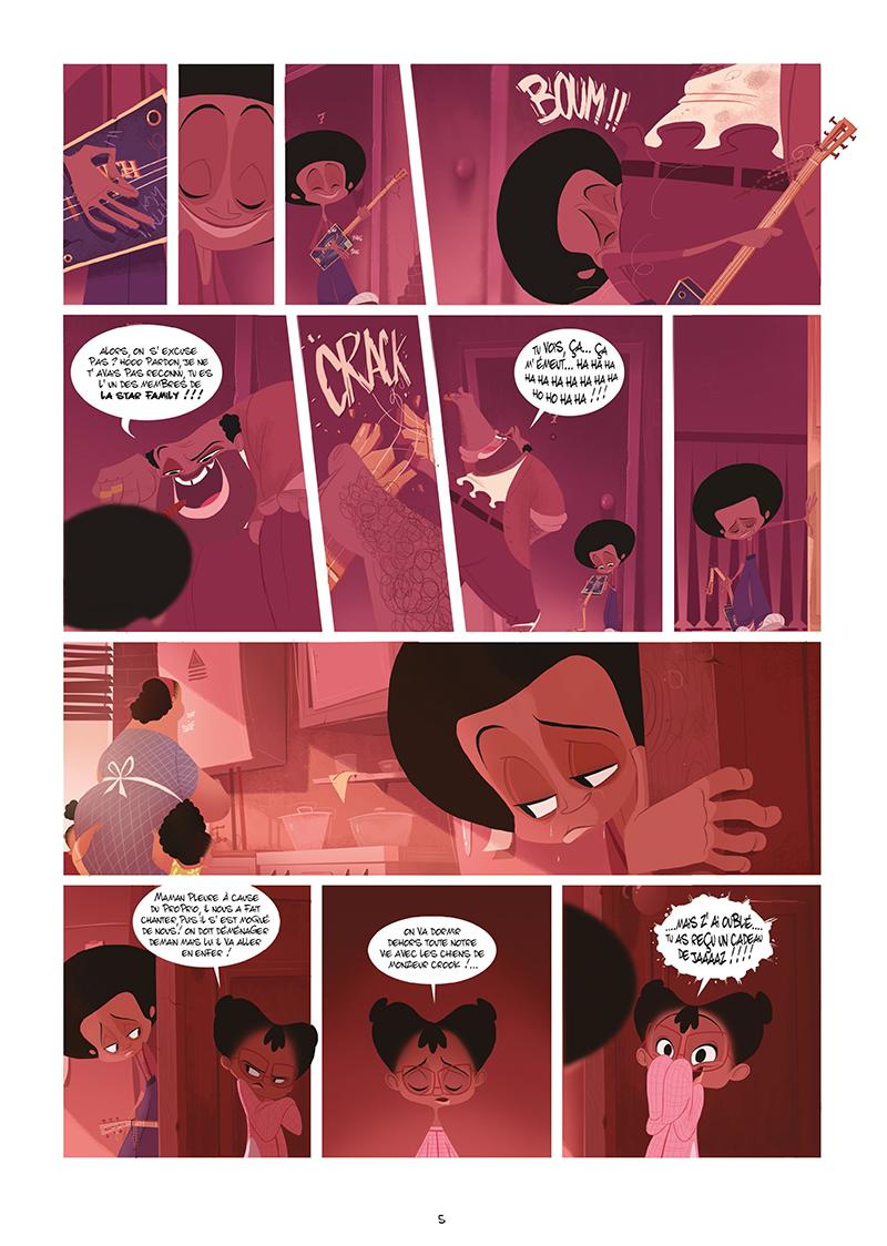 Extrait n°3 de la bd Harlem, sur la route du diable par Goum
