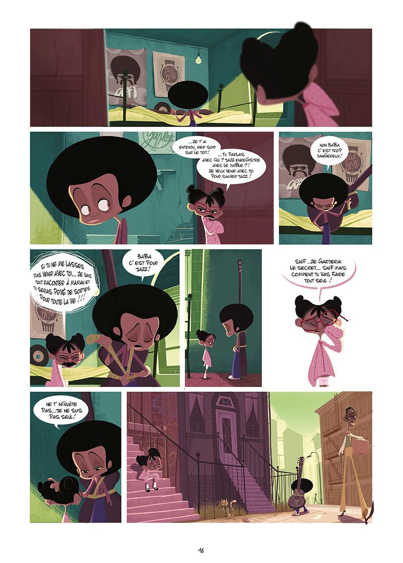 Extrait n°14 de la bd Harlem, sur la route du diable par Goum