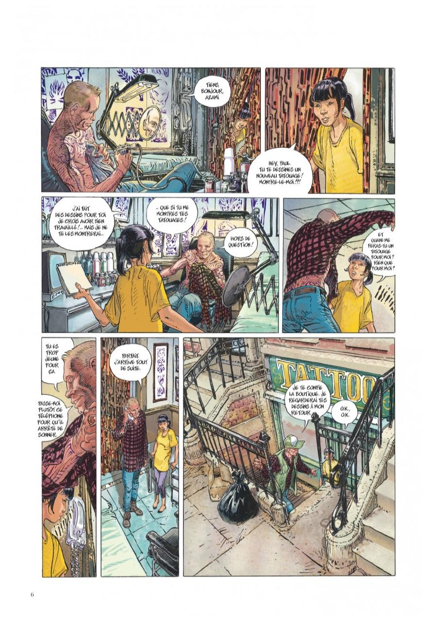 Extrait n°2 de la bd Little Tulip par Jérôme Charyn