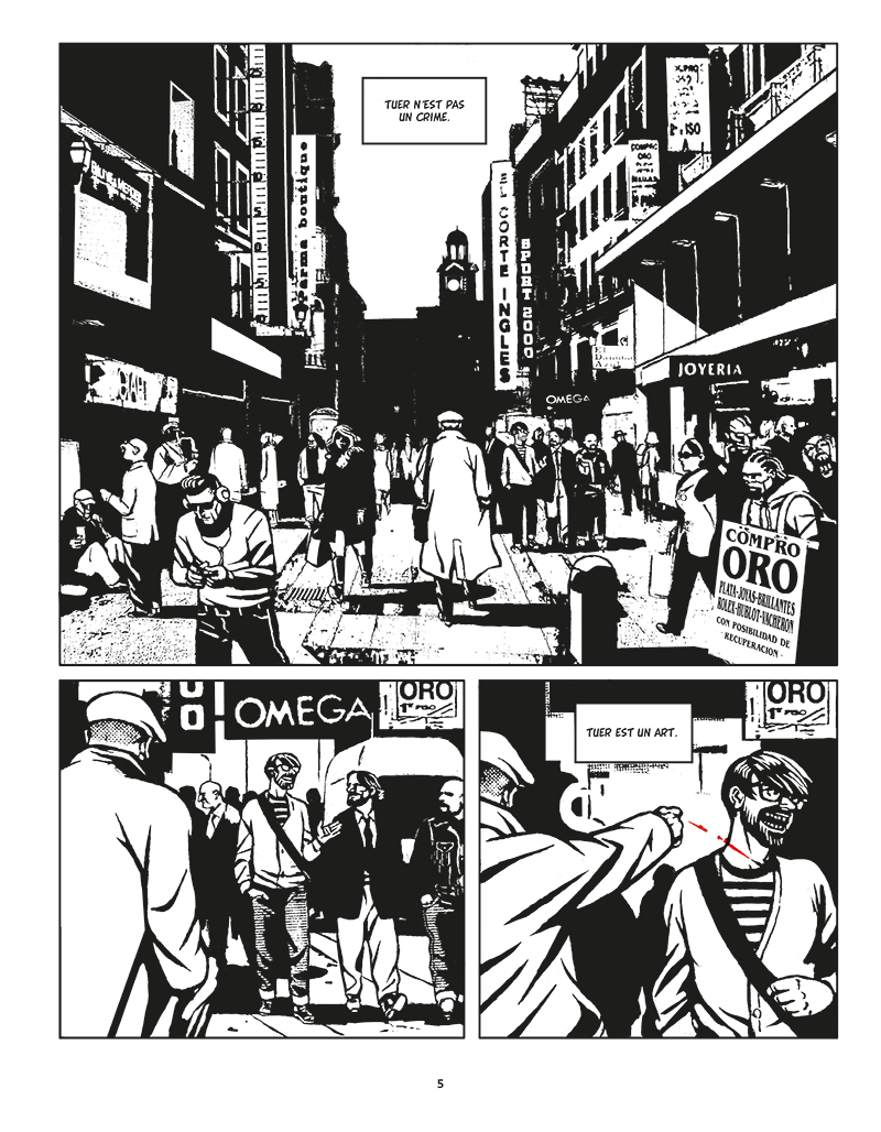 Extrait n°1 de la bd Moi, Assassin par Keko
