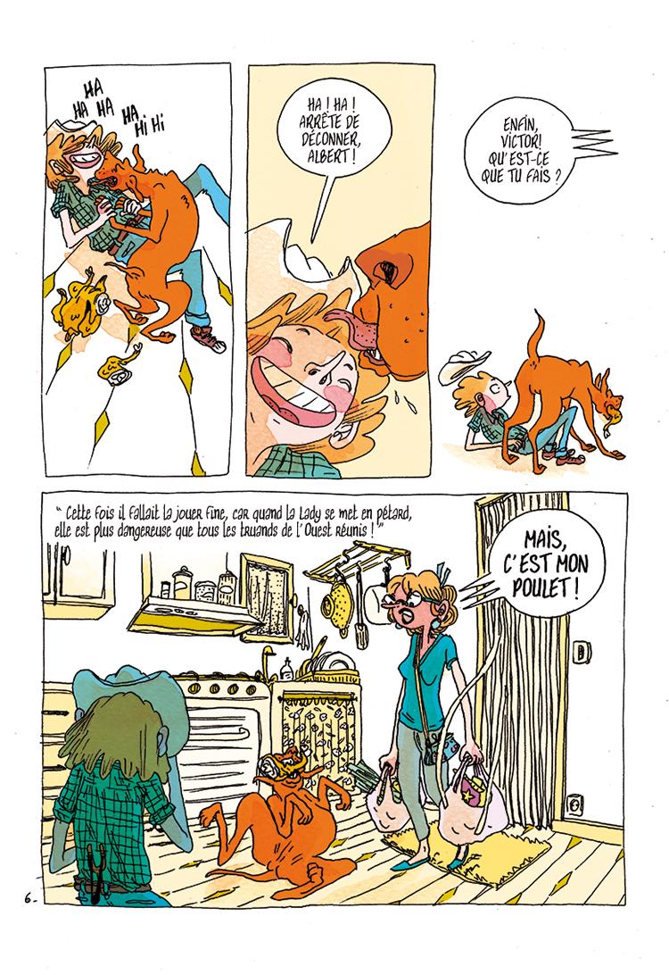 Extrait n°6 de la bd Victor et Clint par Marion Duclos