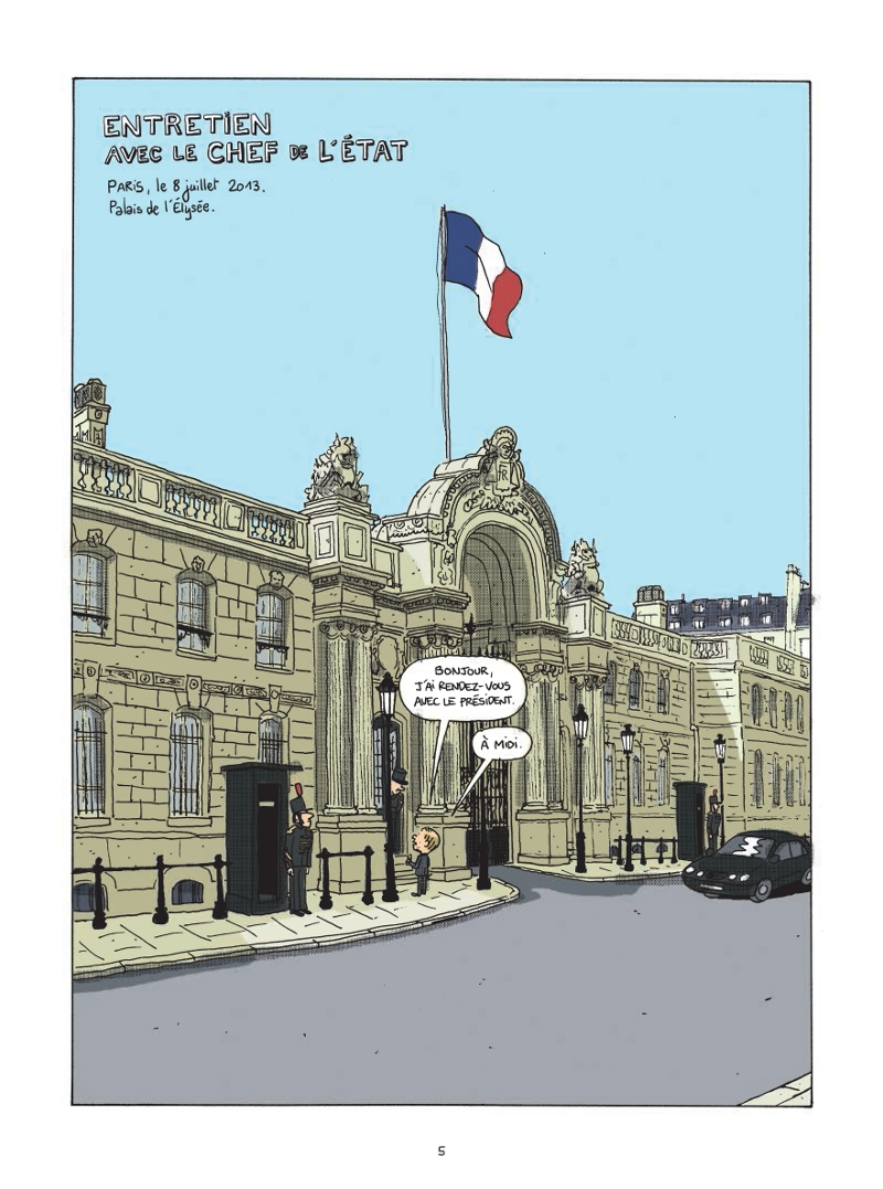 Extrait n°3 de la bd Le Château par Mathieu Sapin