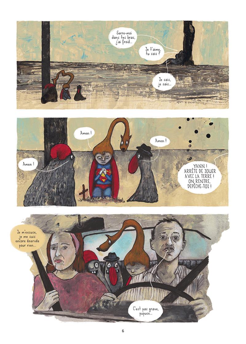 Extrait n°1 de la bd Mourir (ça n'existe pas) par Théa Rojzman