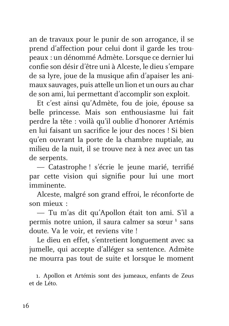 Extrait n°2 de la bd Petites Histoires de famille dans la mythologie par Brigitte Heller-Arfouillère