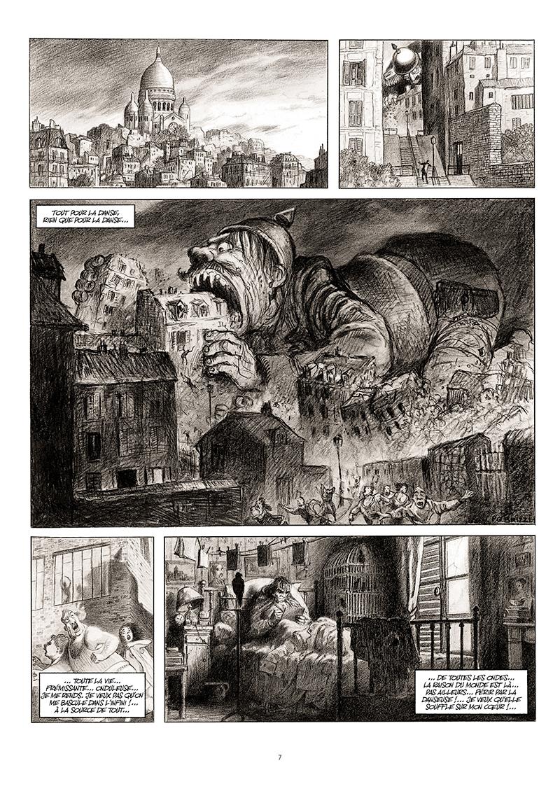 Extrait n°1 de la bd La cavale du Dr Destouches par Christophe Malavoy