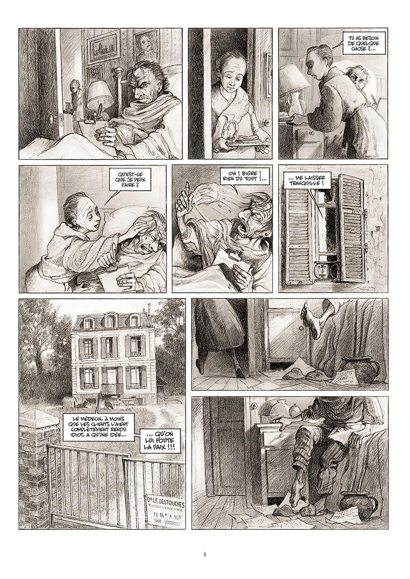 Extrait n°2 de la bd La cavale du Dr Destouches par Christophe Malavoy