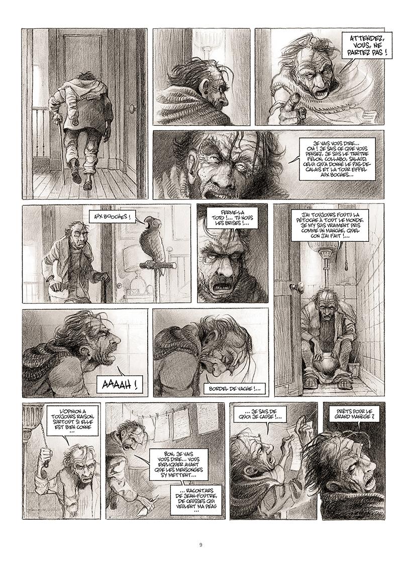 Extrait n°3 de la bd La cavale du Dr Destouches par Christophe Malavoy
