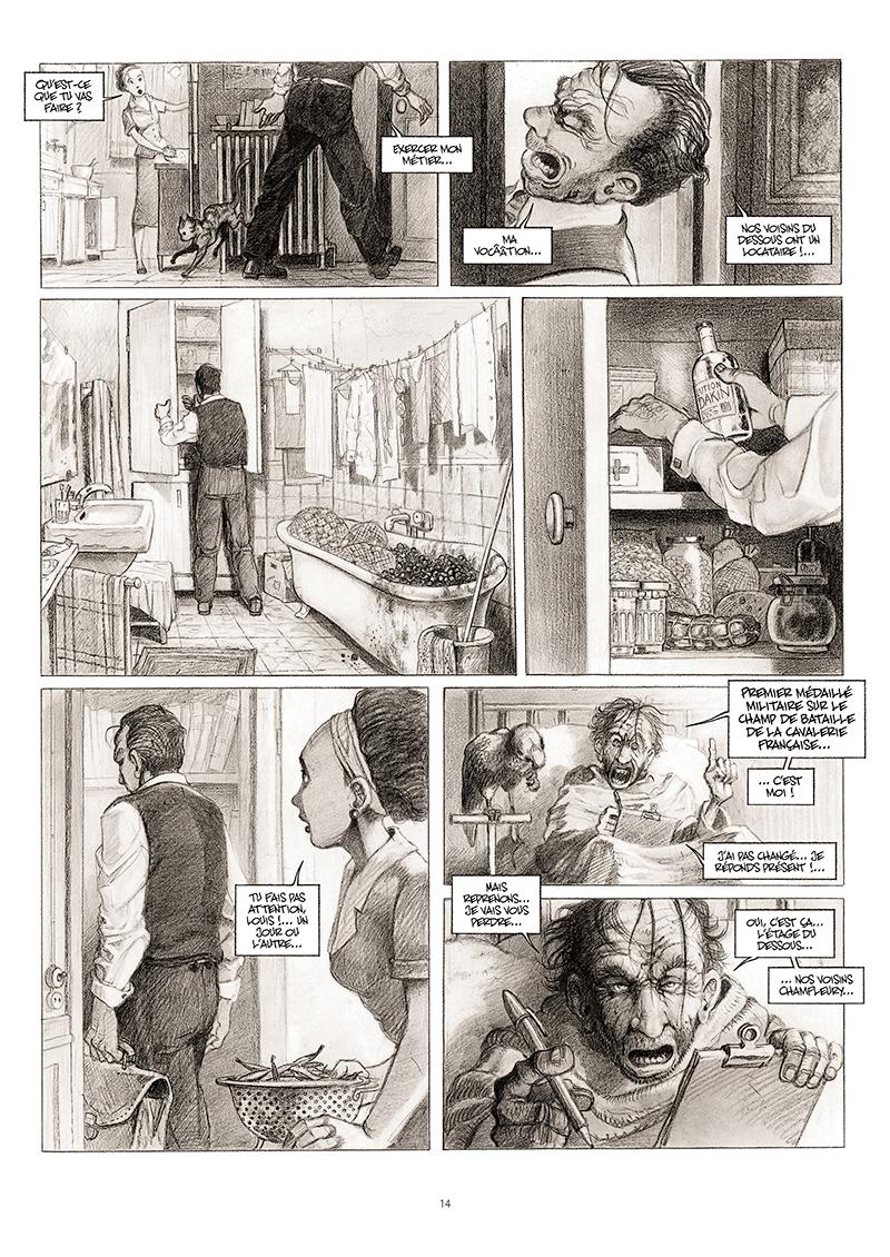 Extrait n°8 de la bd La cavale du Dr Destouches par Christophe Malavoy