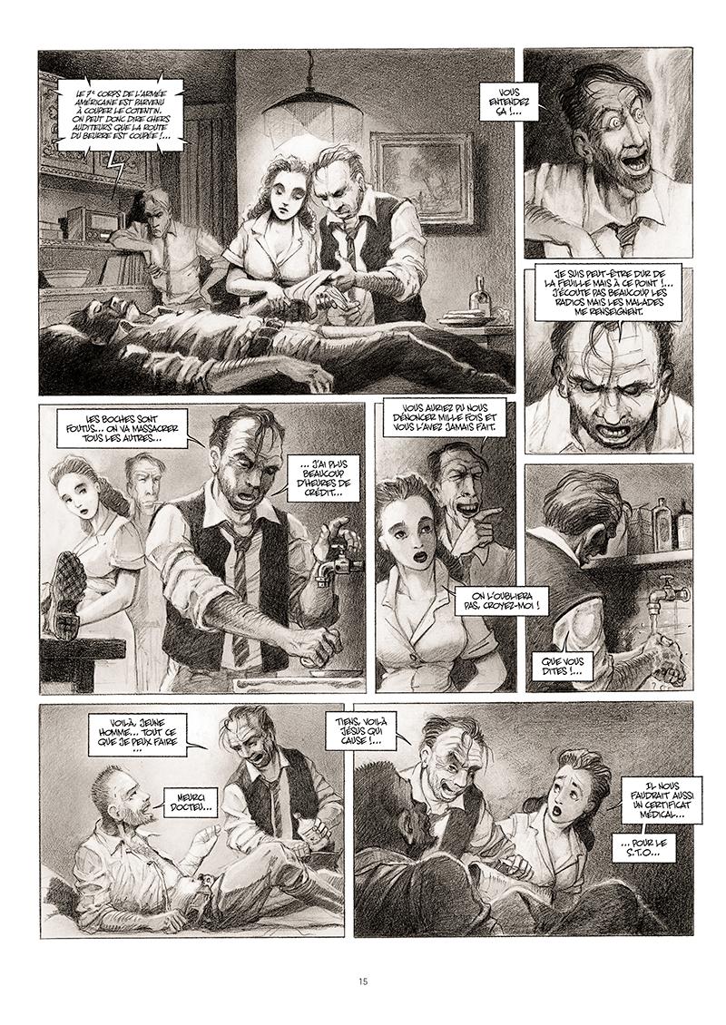 Extrait n°9 de la bd La cavale du Dr Destouches par Christophe Malavoy
