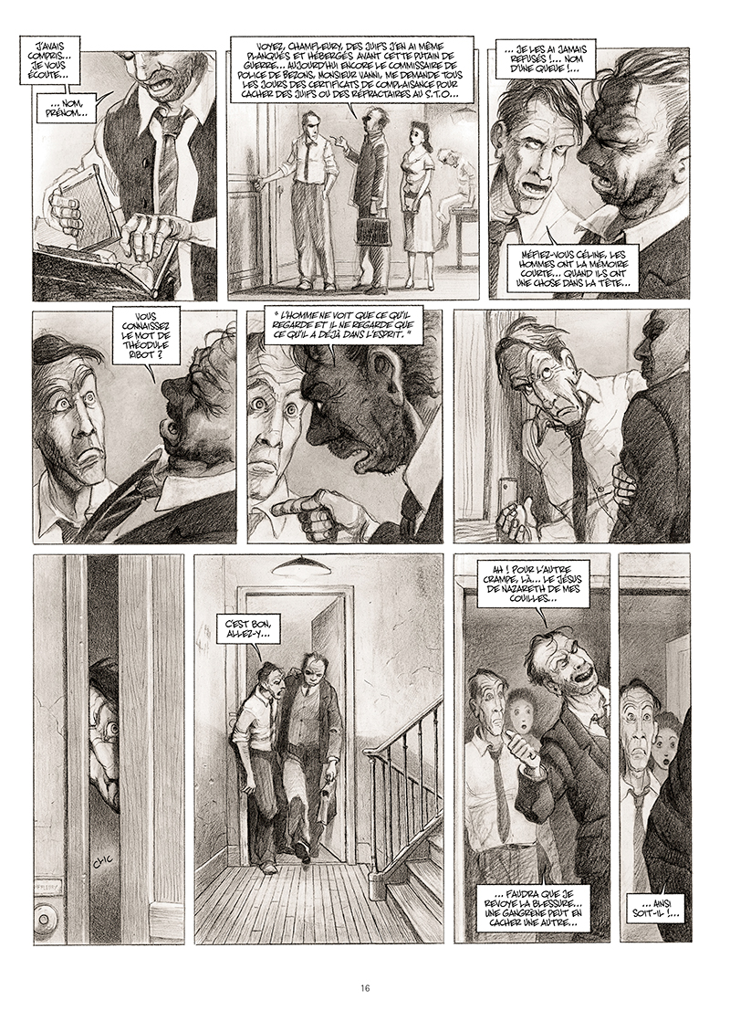 Extrait n°10 de la bd La cavale du Dr Destouches par Christophe Malavoy