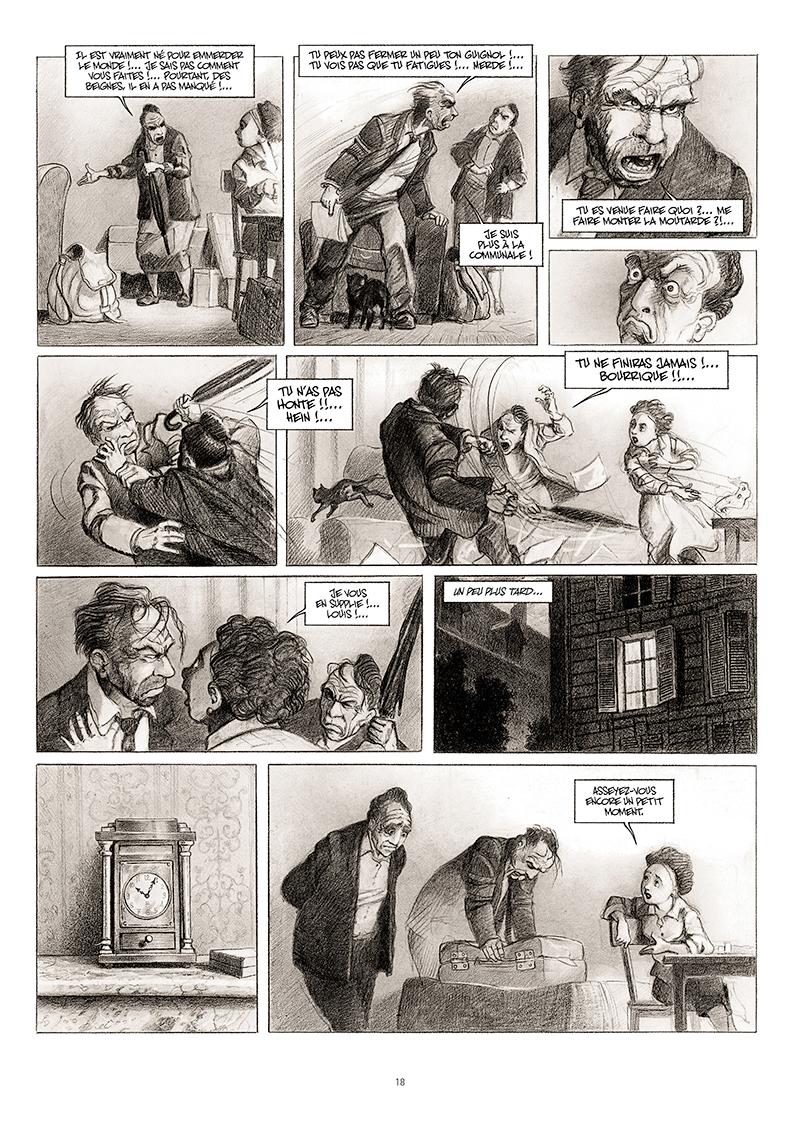 Extrait n°12 de la bd La cavale du Dr Destouches par Christophe Malavoy