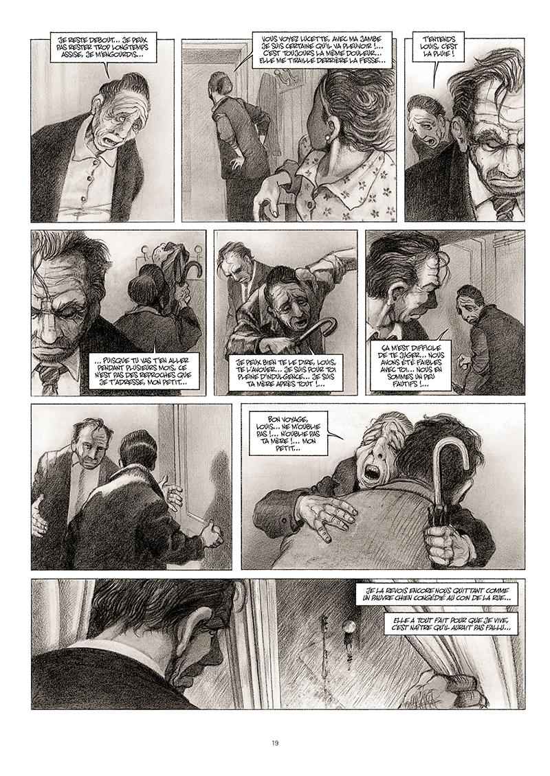 Extrait n°13 de la bd La cavale du Dr Destouches par Christophe Malavoy