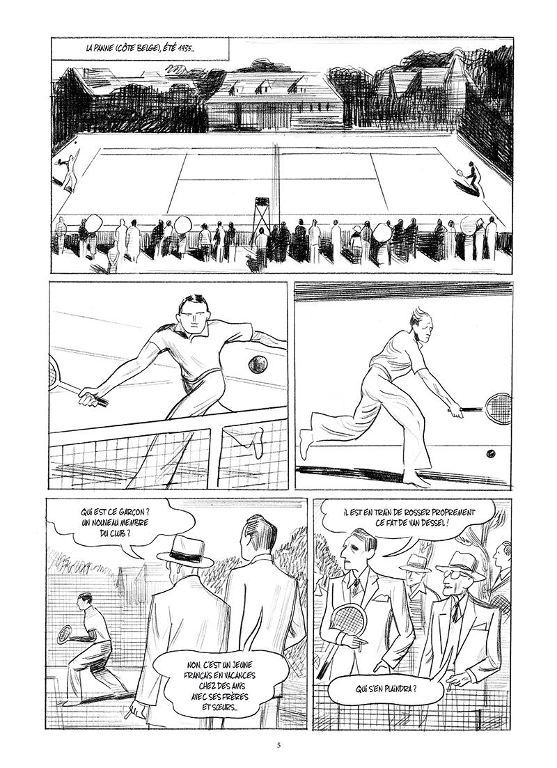 Extrait n°1 de la bd Mitterrand, un jeune homme de droite par Philippe Richelle