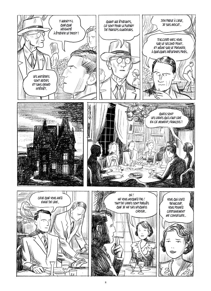 Extrait n°4 de la bd Mitterrand, un jeune homme de droite par Philippe Richelle
