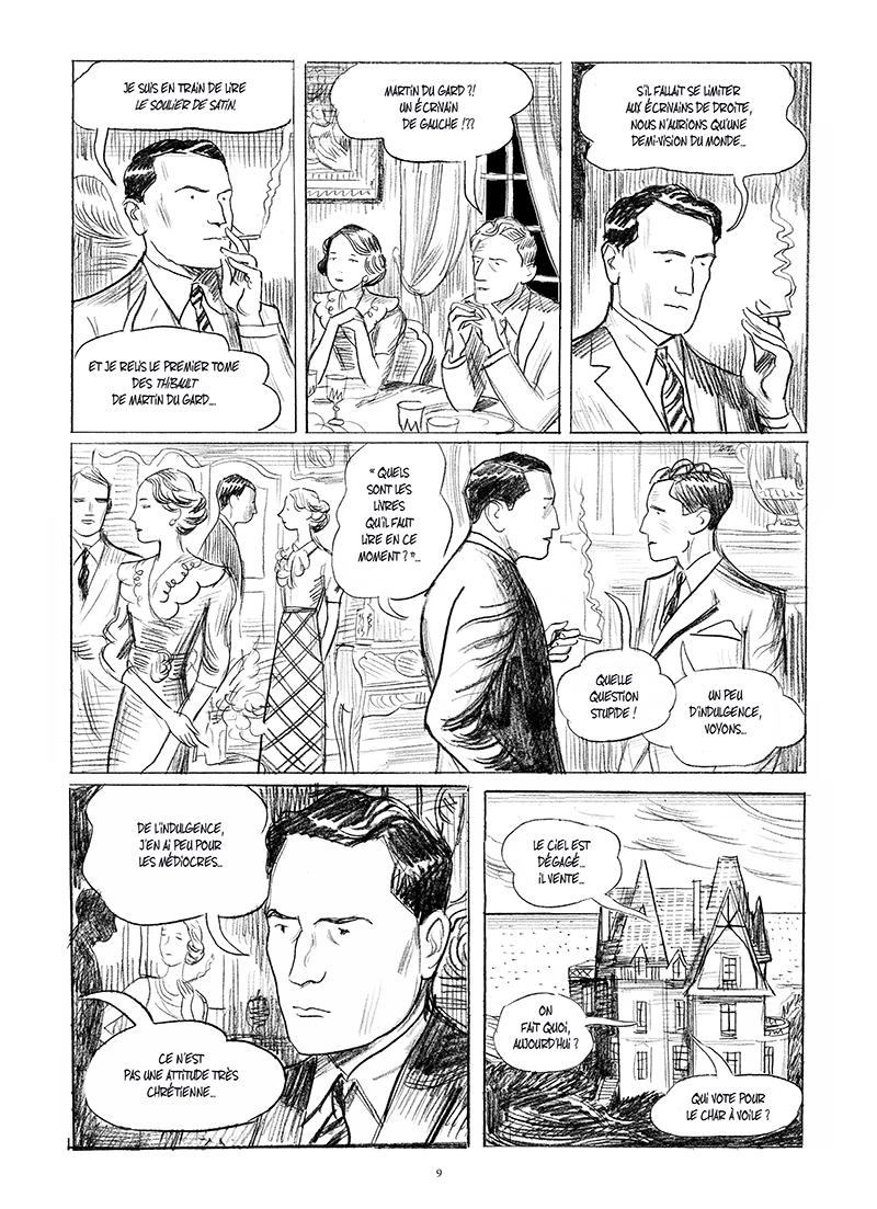 Extrait n°5 de la bd Mitterrand, un jeune homme de droite par Philippe Richelle