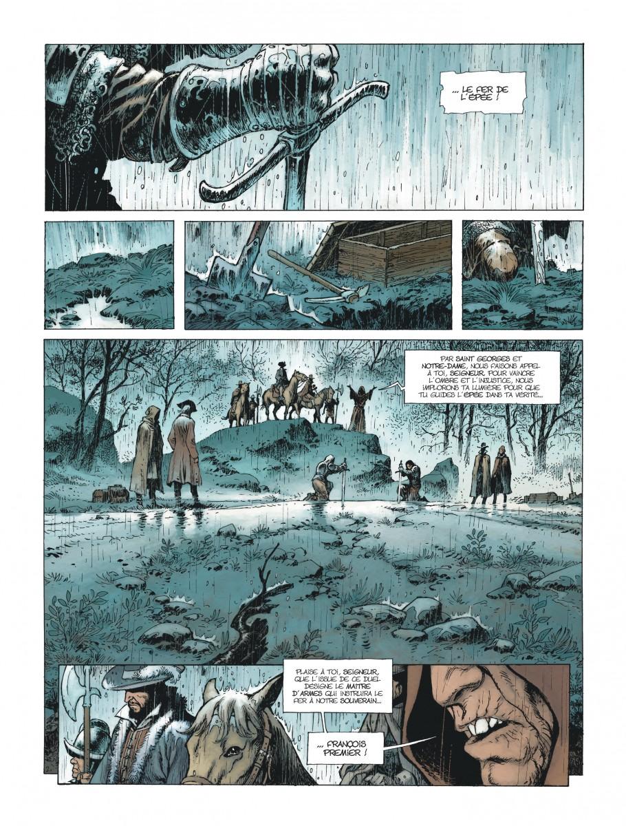 Extrait n°2 de la bd Le Maître d'armes  par Xavier Dorison