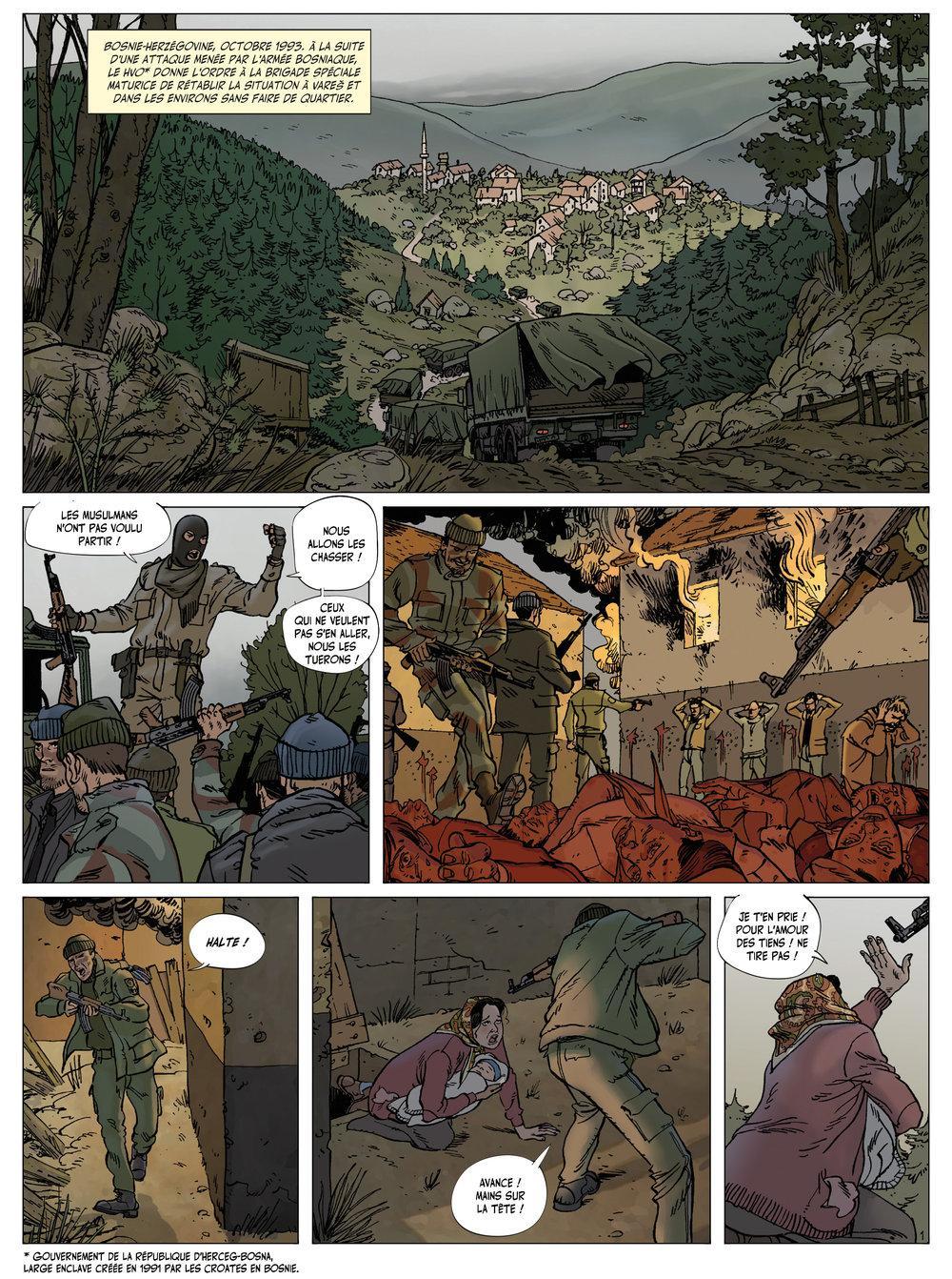 Extrait n°1 de la bd Arène des Balkans par Philippe Thirault