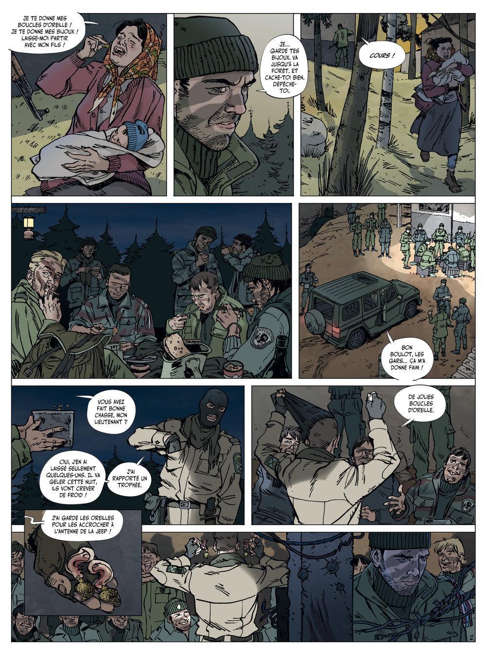 Extrait n°2 de la bd Arène des Balkans par Philippe Thirault