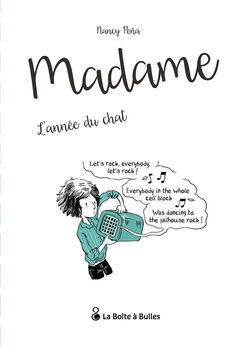 Extrait n°1 de la bd Madame, l'Année du chat par Nancy Pena