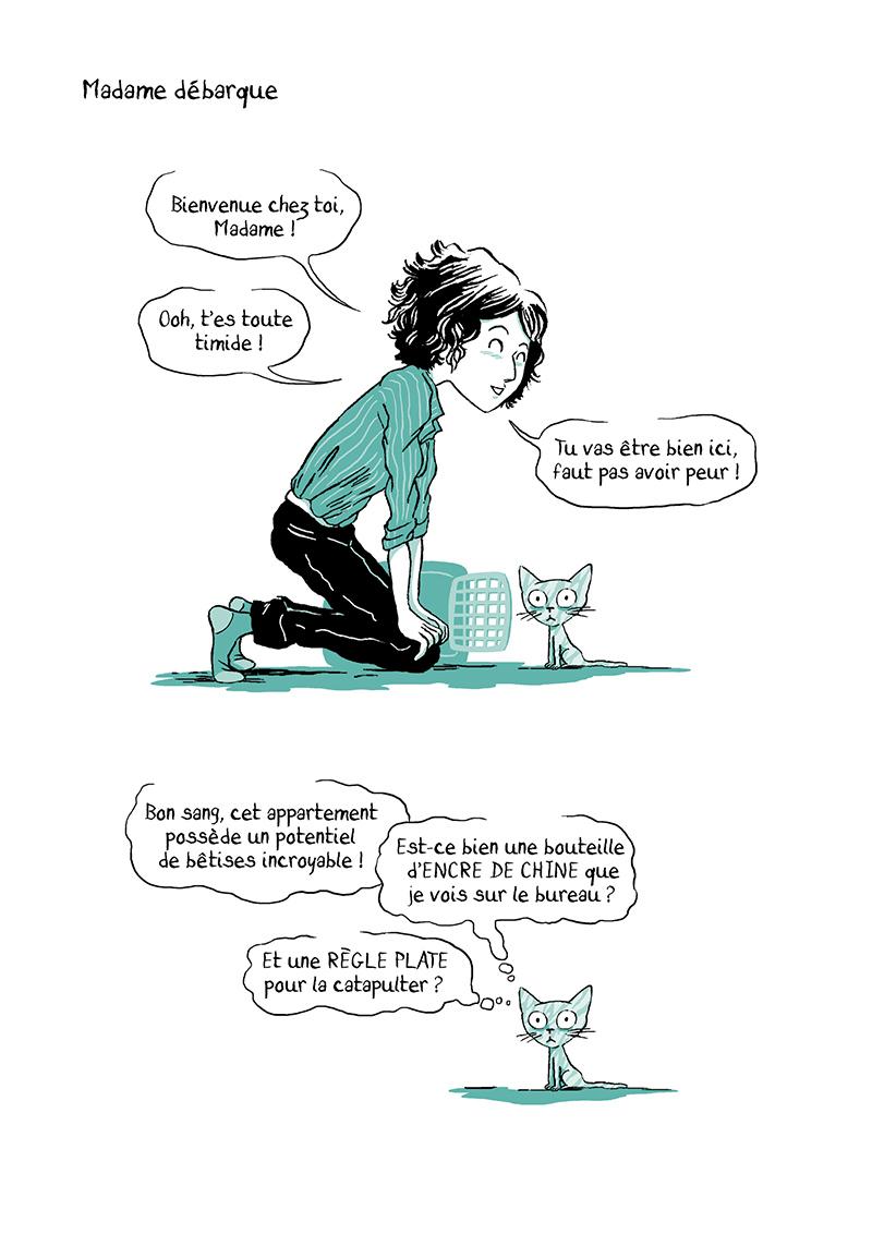 Extrait n°2 de la bd Madame, l'Année du chat par Nancy Pena