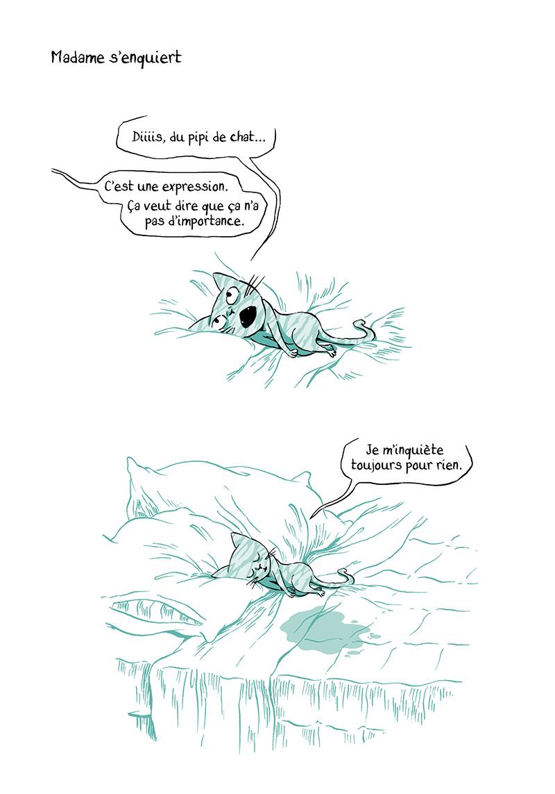 Extrait n°4 de la bd Madame, l'Année du chat par Nancy Pena