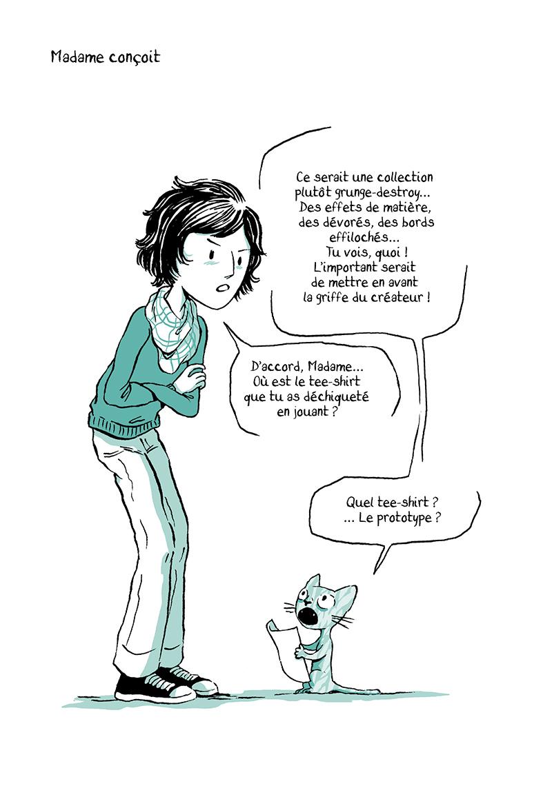 Extrait n°9 de la bd Madame, l'Année du chat par Nancy Pena