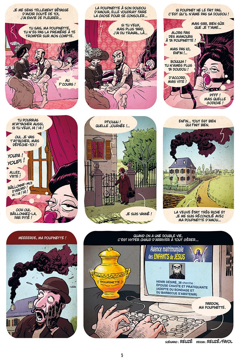 Extrait n°3 de la bd Ennemisdavant.com - Toutes les grandes figures du XXe siècle enfin sur le Net ! par Emmanuel Reuzé