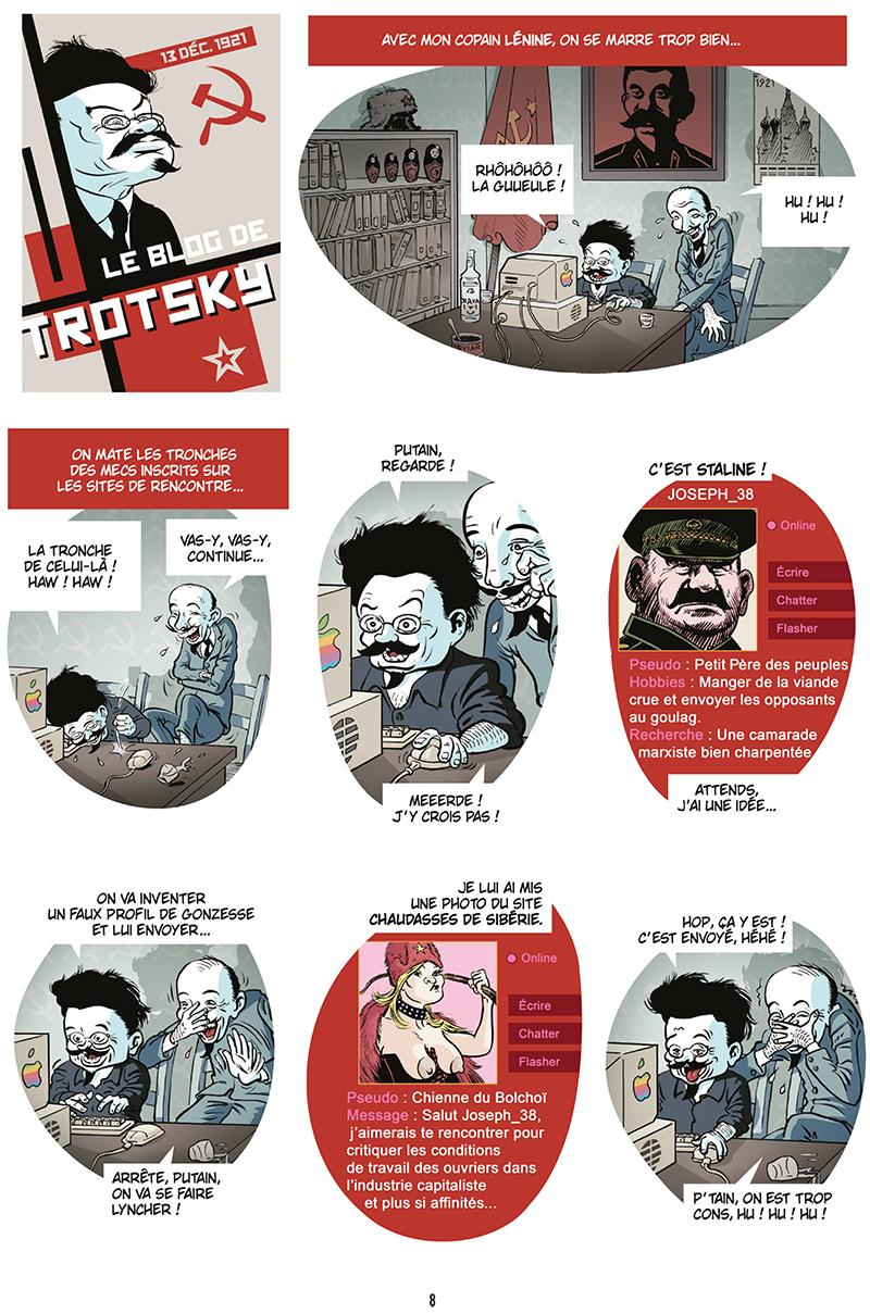 Extrait n°6 de la bd Ennemisdavant.com - Toutes les grandes figures du XXe siècle enfin sur le Net ! par Emmanuel Reuzé