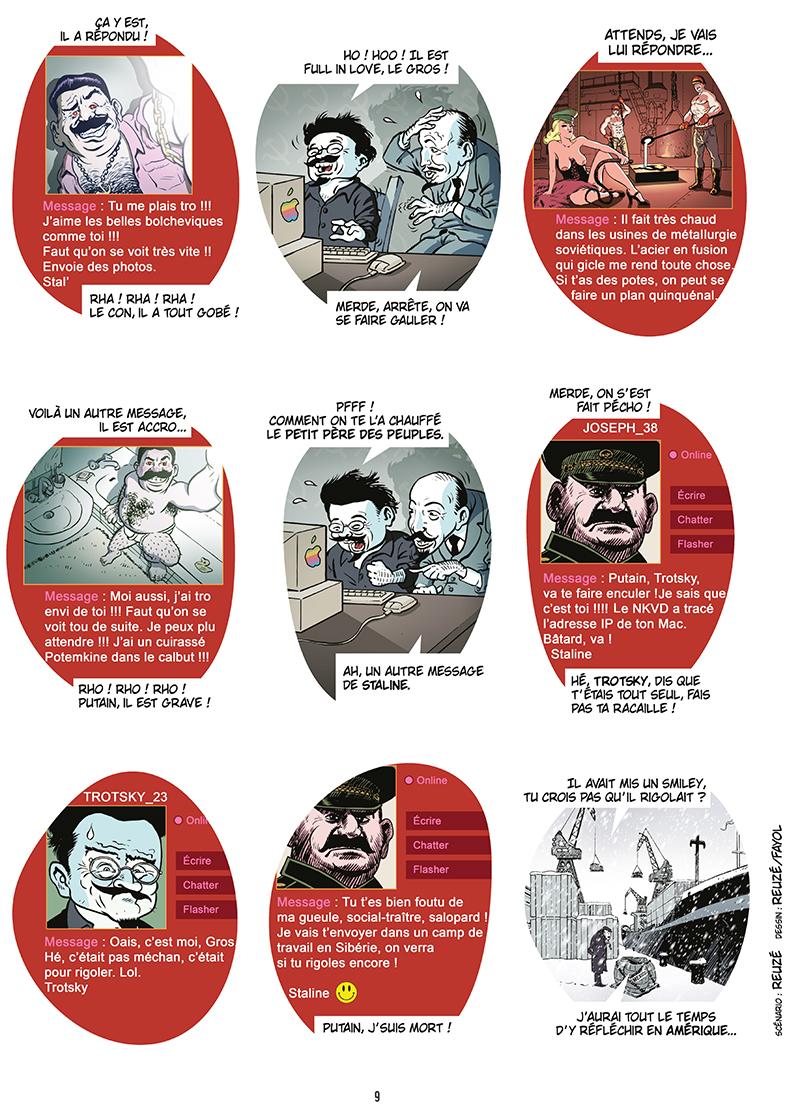 Extrait n°7 de la bd Ennemisdavant.com - Toutes les grandes figures du XXe siècle enfin sur le Net ! par Emmanuel Reuzé
