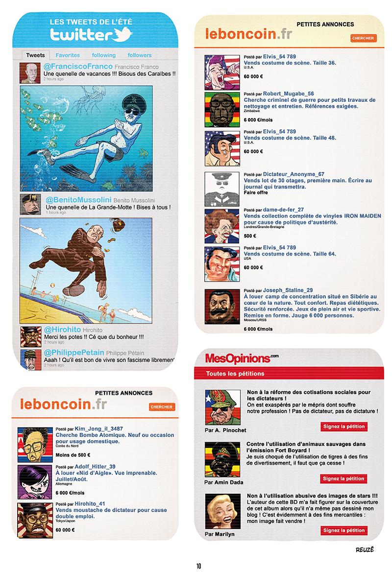 Extrait n°8 de la bd Ennemisdavant.com - Toutes les grandes figures du XXe siècle enfin sur le Net ! par Emmanuel Reuzé