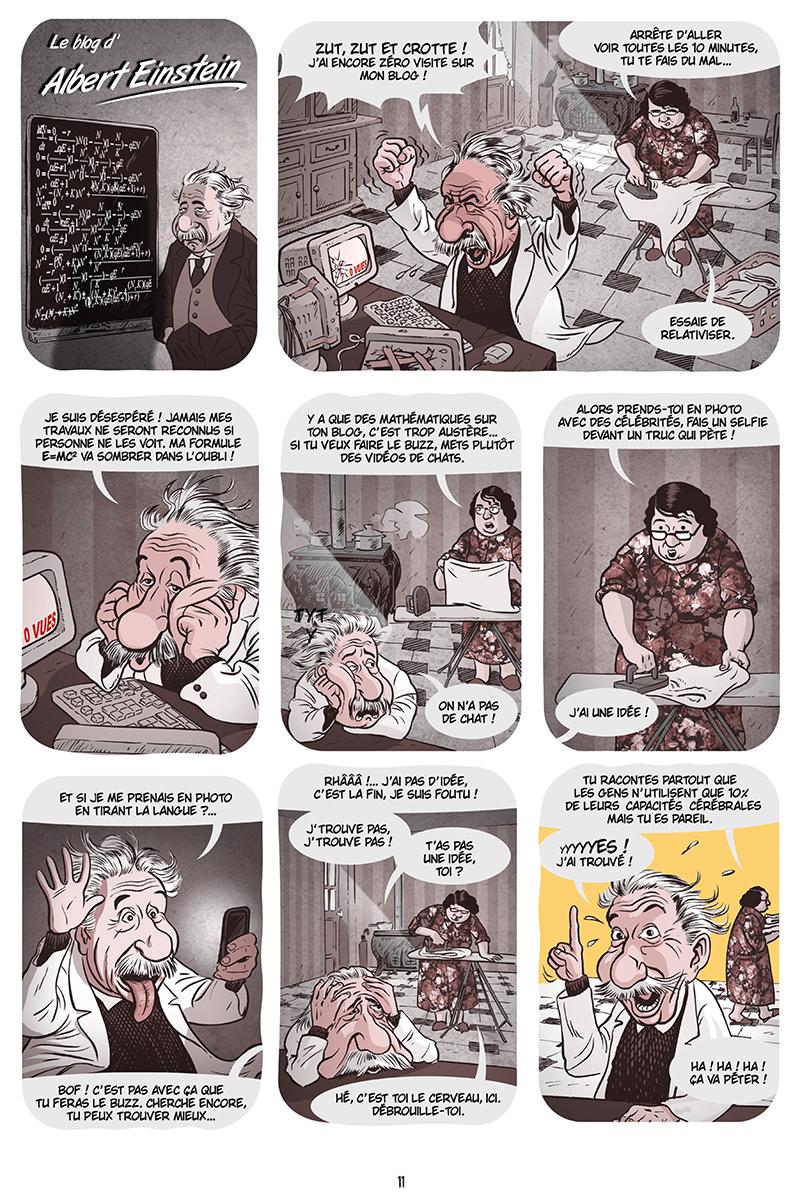 Extrait n°9 de la bd Ennemisdavant.com - Toutes les grandes figures du XXe siècle enfin sur le Net ! par Emmanuel Reuzé