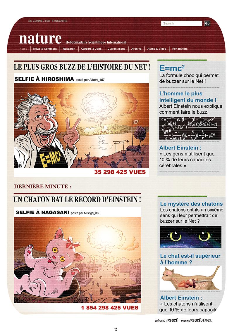 Extrait n°10 de la bd Ennemisdavant.com - Toutes les grandes figures du XXe siècle enfin sur le Net ! par Emmanuel Reuzé