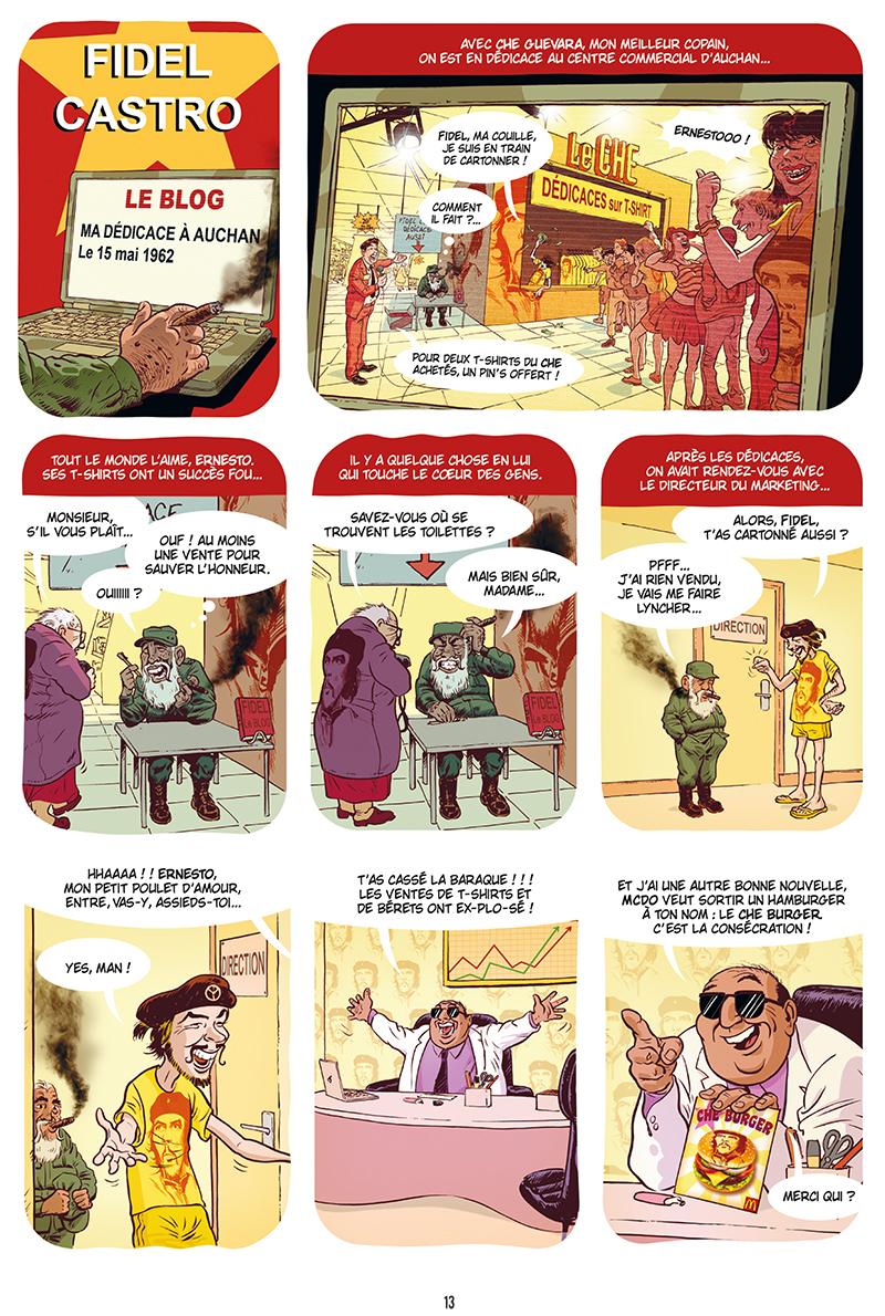 Extrait n°11 de la bd Ennemisdavant.com - Toutes les grandes figures du XXe siècle enfin sur le Net ! par Emmanuel Reuzé