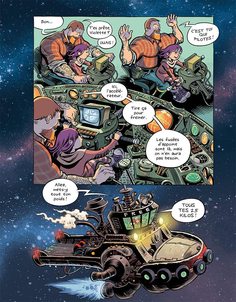 Extrait n°3 du comics Space Boulettes par Craig Thompson