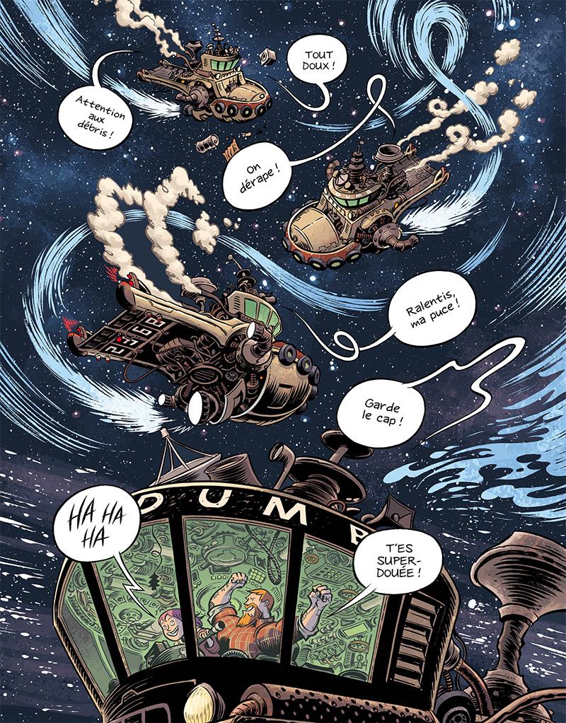 Extrait n°4 du comics Space Boulettes par Craig Thompson