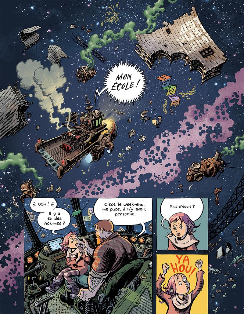 Extrait n°5 du comics Space Boulettes par Craig Thompson