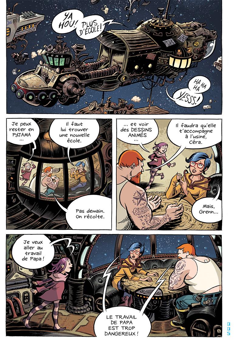 Extrait n°6 du comics Space Boulettes par Craig Thompson