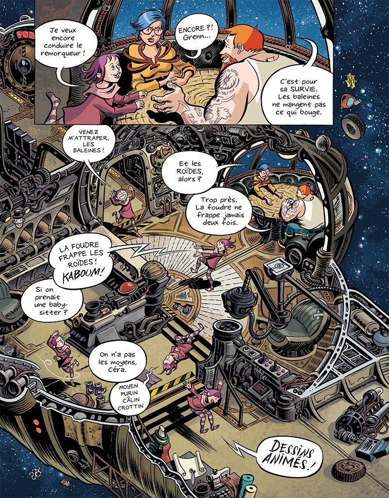 Extrait n°7 du comics Space Boulettes par Craig Thompson